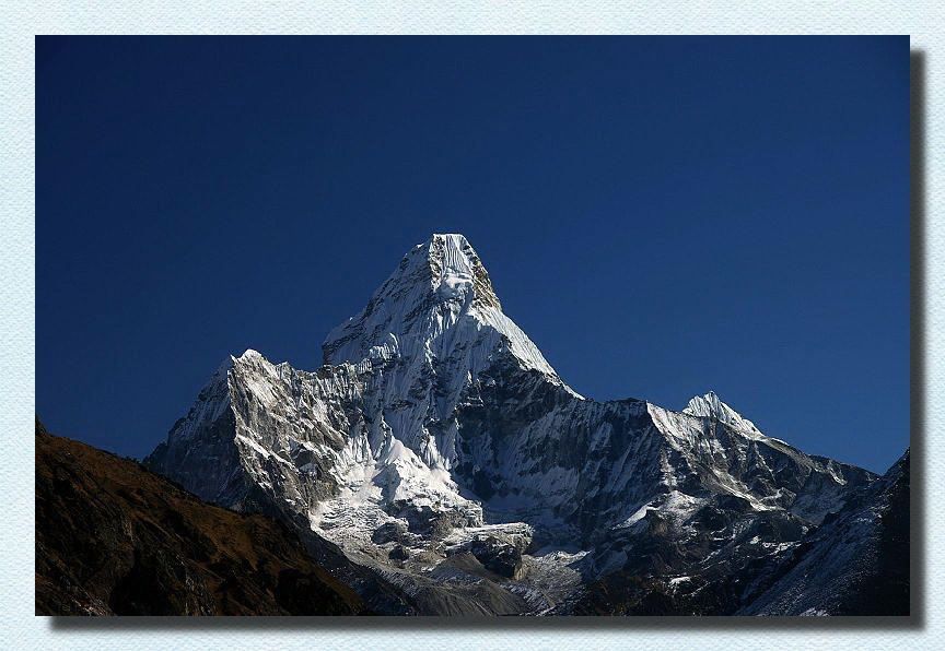 Mount Ama Dablam, The classic view from the southwest