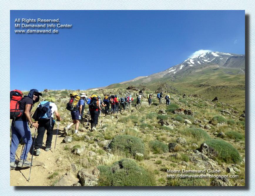 Trekking to Damavand Camp3 Bargah Sevom New Hut