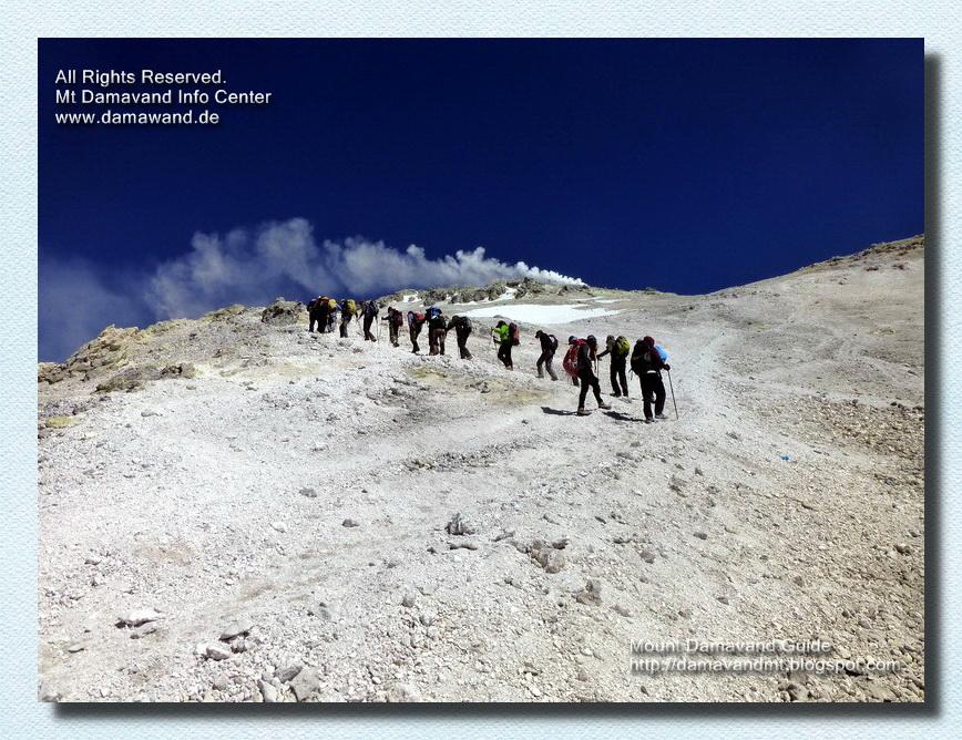 Climbing to Mnt Damavand Peak