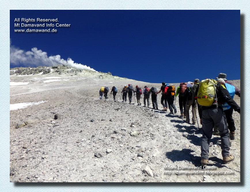 Final Steps to Mt Damavand Summit