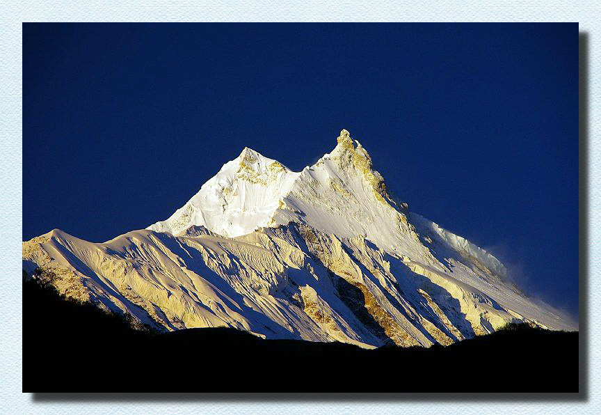 Mount Manaslu at sunrise